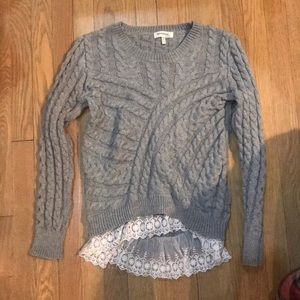 Monteau Sweater With Lace
